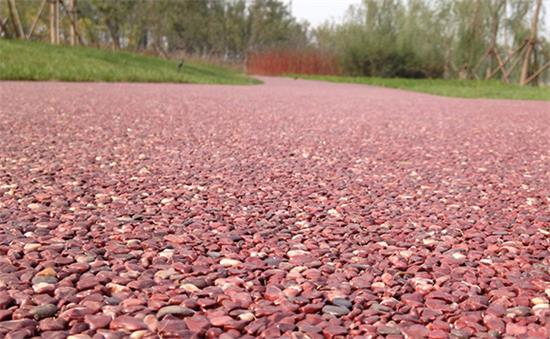 胶粘石透水路面