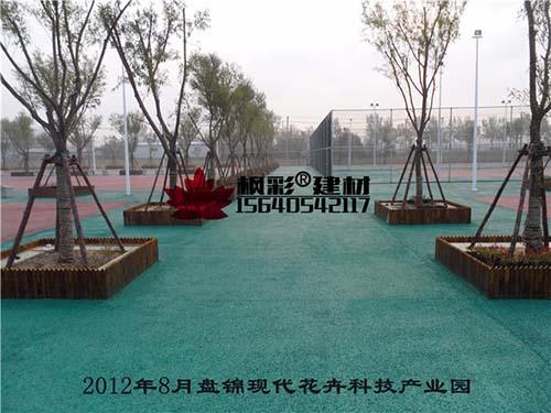 2012年8月盘锦现代花卉科技产业园